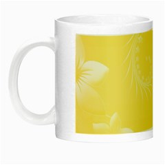 Yellow Abstract Flowers Glow In The Dark Mug by BestCustomGiftsForYou