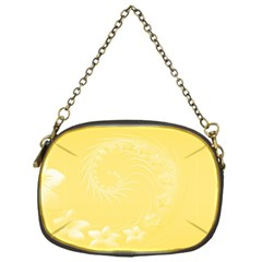 Yellow Abstract Flowers Chain Purse (one Side) by BestCustomGiftsForYou