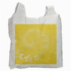 Yellow Abstract Flowers Recycle Bag (one Side) by BestCustomGiftsForYou