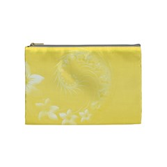 Yellow Abstract Flowers Cosmetic Bag (medium) by BestCustomGiftsForYou