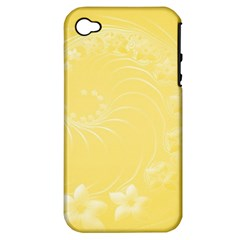 Yellow Abstract Flowers Apple Iphone 4/4s Hardshell Case (pc+silicone) by BestCustomGiftsForYou