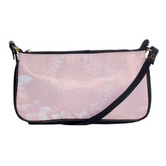 Light Pink Abstract Flowers Evening Bag by BestCustomGiftsForYou