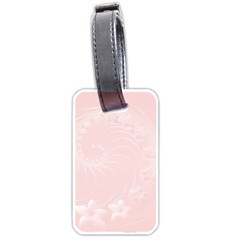 Light Pink Abstract Flowers Luggage Tag (two Sides) by BestCustomGiftsForYou