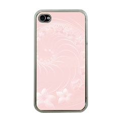 Light Pink Abstract Flowers Apple Iphone 4 Case (clear) by BestCustomGiftsForYou