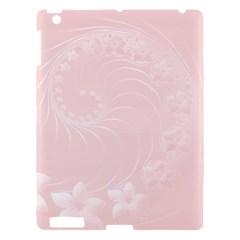 Light Pink Abstract Flowers Apple Ipad 3/4 Hardshell Case by BestCustomGiftsForYou