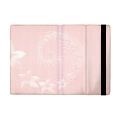 Light Pink Abstract Flowers Apple Ipad Mini Flip Case by BestCustomGiftsForYou