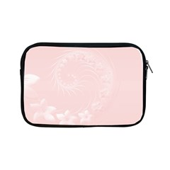 Light Pink Abstract Flowers Apple Ipad Mini Zipper Case by BestCustomGiftsForYou