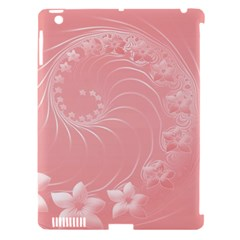 Pink Abstract Flowers Apple Ipad 3/4 Hardshell Case (compatible With Smart Cover) by BestCustomGiftsForYou