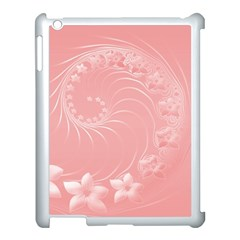 Pink Abstract Flowers Apple Ipad 3/4 Case (white) by BestCustomGiftsForYou