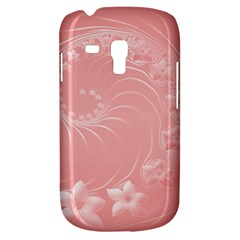 Pink Abstract Flowers Samsung Galaxy S3 Mini I8190 Hardshell Case