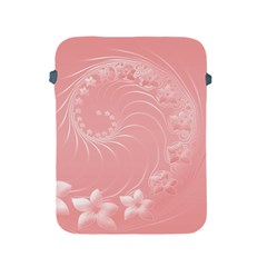 Pink Abstract Flowers Apple Ipad 2/3/4 Protective Soft Case by BestCustomGiftsForYou
