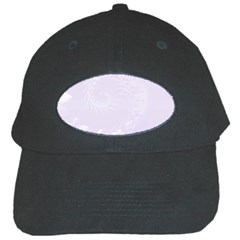Pastel Violet Abstract Flowers Black Baseball Cap by BestCustomGiftsForYou