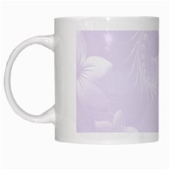 Pastel Violet Abstract Flowers White Coffee Mug by BestCustomGiftsForYou