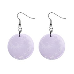 Pastel Violet Abstract Flowers Mini Button Earrings by BestCustomGiftsForYou