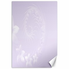 Pastel Violet Abstract Flowers Canvas 12  X 18  (unframed)
