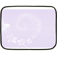 Pastel Violet Abstract Flowers Mini Fleece Blanket (two Sided) by BestCustomGiftsForYou