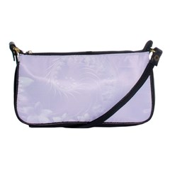 Pastel Violet Abstract Flowers Evening Bag by BestCustomGiftsForYou
