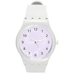 Pastel Violet Abstract Flowers Plastic Sport Watch (medium) by BestCustomGiftsForYou