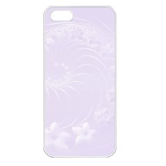Pastel Violet Abstract Flowers Apple Iphone 5 Seamless Case (white) by BestCustomGiftsForYou