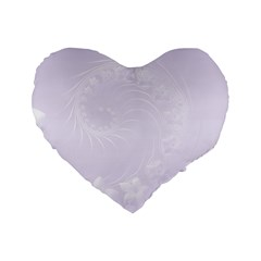 Pastel Violet Abstract Flowers 16  Premium Heart Shape Cushion  by BestCustomGiftsForYou