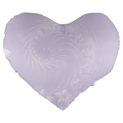 Pastel Violet Abstract Flowers 19  Premium Heart Shape Cushion by BestCustomGiftsForYou
