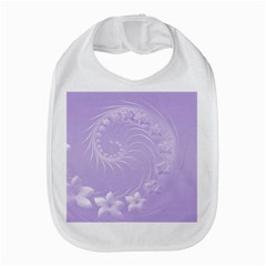 Light Violet Abstract Flowers Bib by BestCustomGiftsForYou