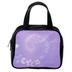 Light Violet Abstract Flowers Classic Handbag (one Side)