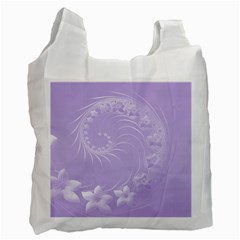 Light Violet Abstract Flowers Recycle Bag (two Sides) by BestCustomGiftsForYou