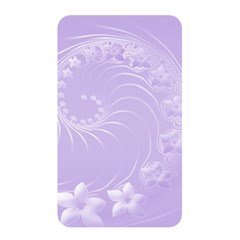 Light Violet Abstract Flowers Memory Card Reader (rectangular)