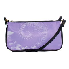 Light Violet Abstract Flowers Evening Bag by BestCustomGiftsForYou