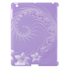Light Violet Abstract Flowers Apple Ipad 3/4 Hardshell Case (compatible With Smart Cover) by BestCustomGiftsForYou