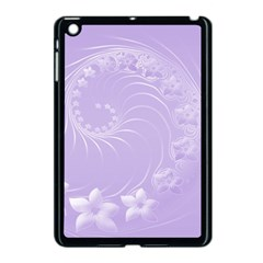 Light Violet Abstract Flowers Apple Ipad Mini Case (black) by BestCustomGiftsForYou