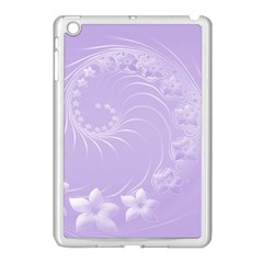 Light Violet Abstract Flowers Apple Ipad Mini Case (white) by BestCustomGiftsForYou