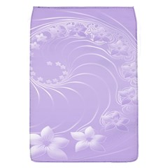 Light Violet Abstract Flowers Removable Flap Cover (small) by BestCustomGiftsForYou