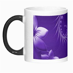 Violet Abstract Flowers Morph Mug by BestCustomGiftsForYou