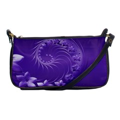 Violet Abstract Flowers Evening Bag by BestCustomGiftsForYou