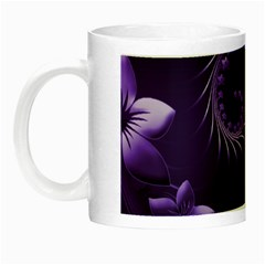 Dark Violet Abstract Flowers Glow In The Dark Mug by BestCustomGiftsForYou