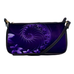 Dark Violet Abstract Flowers Evening Bag by BestCustomGiftsForYou