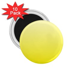 Cream To Cadmium Yellow Gradient 2 25  Button Magnet (10 Pack) by BestCustomGiftsForYou