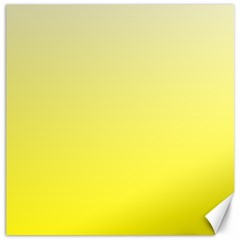 Cream To Cadmium Yellow Gradient Canvas 12  X 12  (unframed) by BestCustomGiftsForYou