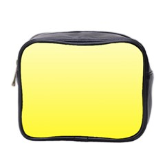 Cream To Cadmium Yellow Gradient Mini Travel Toiletry Bag (two Sides) by BestCustomGiftsForYou