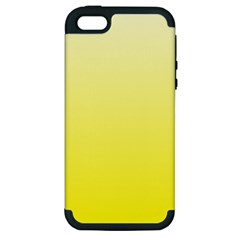 Cream To Cadmium Yellow Gradient Apple Iphone 5 Hardshell Case (pc+silicone) by BestCustomGiftsForYou