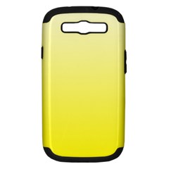 Cream To Cadmium Yellow Gradient Samsung Galaxy S Iii Hardshell Case (pc+silicone)