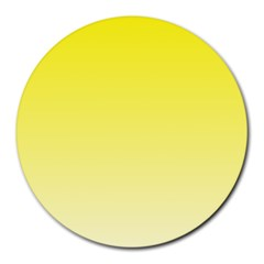 Cadmium Yellow To Cream Gradient 8  Mouse Pad (round) by BestCustomGiftsForYou