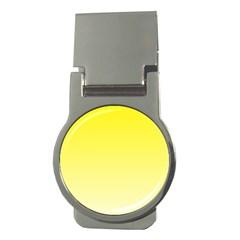 Cadmium Yellow To Cream Gradient Money Clip (round) by BestCustomGiftsForYou