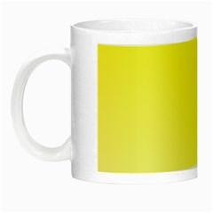 Cadmium Yellow To Cream Gradient Glow In The Dark Mug