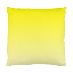 Cadmium Yellow To Cream Gradient Cushion Case (two Sides) by BestCustomGiftsForYou
