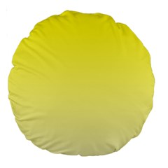 Cadmium Yellow To Cream Gradient 18  Premium Round Cushion  by BestCustomGiftsForYou