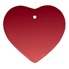 Burgundy To Pastel Red Gradient Heart Ornament (two Sides) by BestCustomGiftsForYou