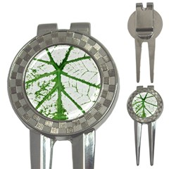 Leaf Patterns Golf Pitchfork & Ball Marker by natureinmalaysia